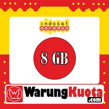 Paket Internet Indosat Data - Pure Internet - 8 GB; 24 Jam/30 Hari