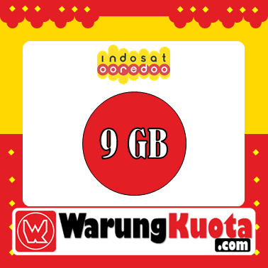 Paket Internet Indosat Data - Pure Internet - 9 GB; 24 Jam/30 Hari